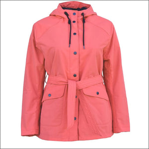 Snow Country Outerwear 1X-6X Plus Size Short Trench Rain Coat - 1X / Coral - Plus Size