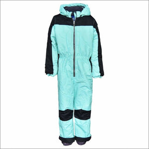 Snow Country Outerwear Big Girls Youth 1 Pc Snowsuit Coveralls S-L - Small (7/8) / Mint Black - Kids