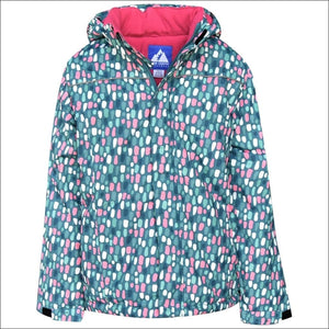 Snow Country Outerwear Girls Big Youth Insulated Ski Jacket Coat Snow Day S-L - S (7/8) / Teal Dot - Kids