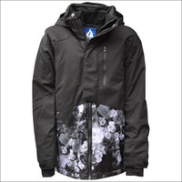 Snow Country Outerwear Girls Big Youth Peony Ski Jacket Coat S-L - Small (7/8) / Black - Kids