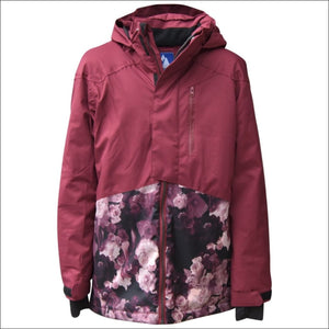 Snow Country Outerwear Girls Big Youth Peony Ski Jacket Coat S-L - Small (7/8) / Peony Wine - Kids