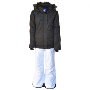Snow Country Outerwear Girls Big Youth Snowsuit Ski Jacket Pants Aspens Calling 7-16 - S (7/8) / Black - Kids