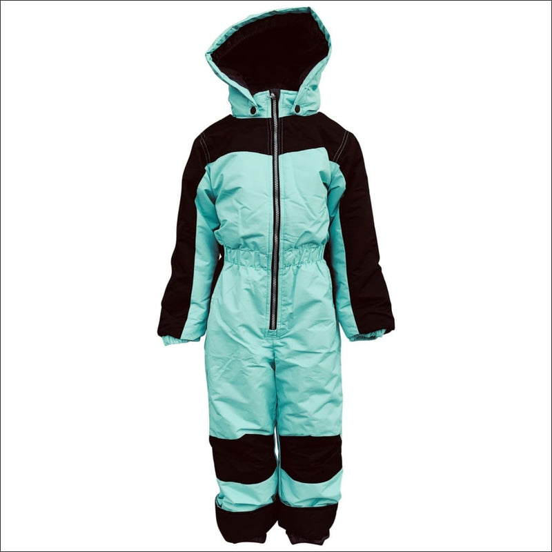 Snow Country Outerwear Little Girls 1 Pc Snowsuit Coveralls S-L - Small (4/5) / Mint Black - Kids