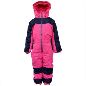 Snow Country Outerwear Little Girls 1 Pc Snowsuit Coveralls S-L - Small (4/5) / Pink - Kids