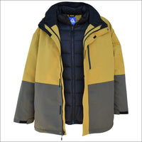 Snow Country Outerwear Mens 3in1 Burlington Jacket Coat Big Sizes 2XL-7XL - 2XL / Wheat - Mens
