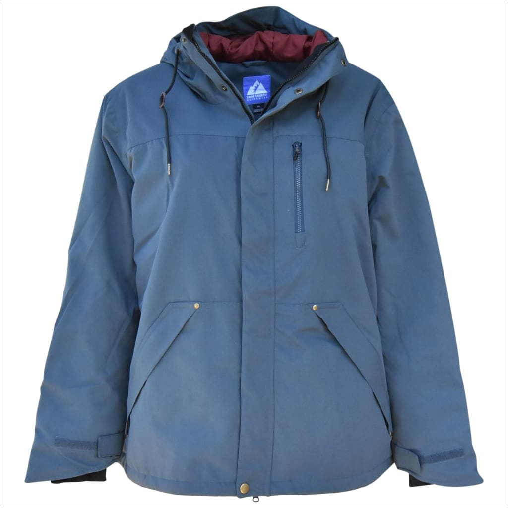 Snow Country Outerwear Mens Triple Stitch Insulated Jacket Coat Big Sizes 2XL-7XL - 2XL / Steel Blue - Mens