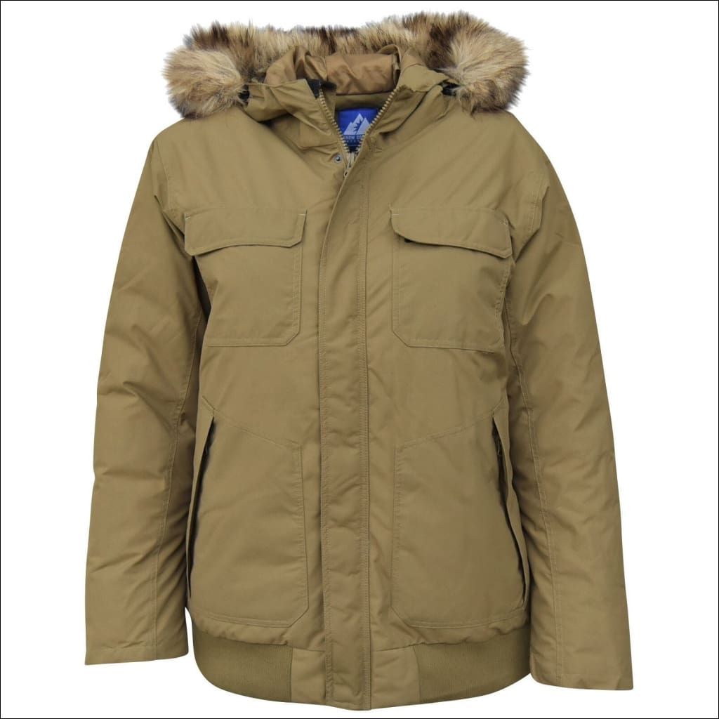 Snow Country Outerwear Mens Wayland Insulated Bomber Jacket Coat Down Alternative 2XL-6XL - 2XL / Wayland Olive - Mens