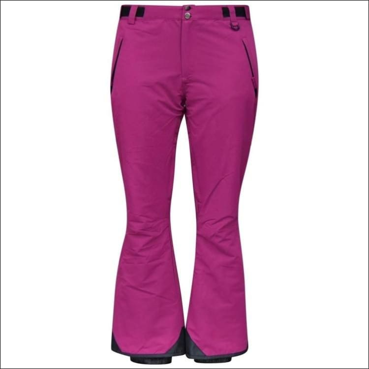Snow Country Outerwear Womens Plus Size Snow Ski Pants 1X-6X Reg and Short - 1X (16/18) / Berry Wine - Womens
