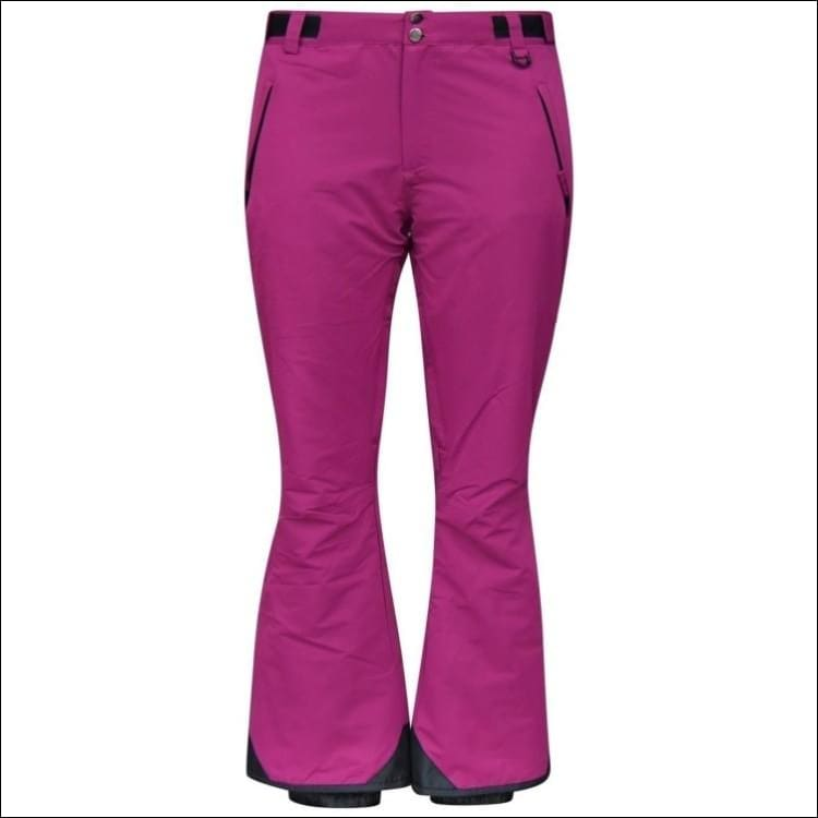 Snow Country Outerwear Womens Ski Pants Insulated S-XL Reg and Short - Small / Berry Wine - Ski Wear