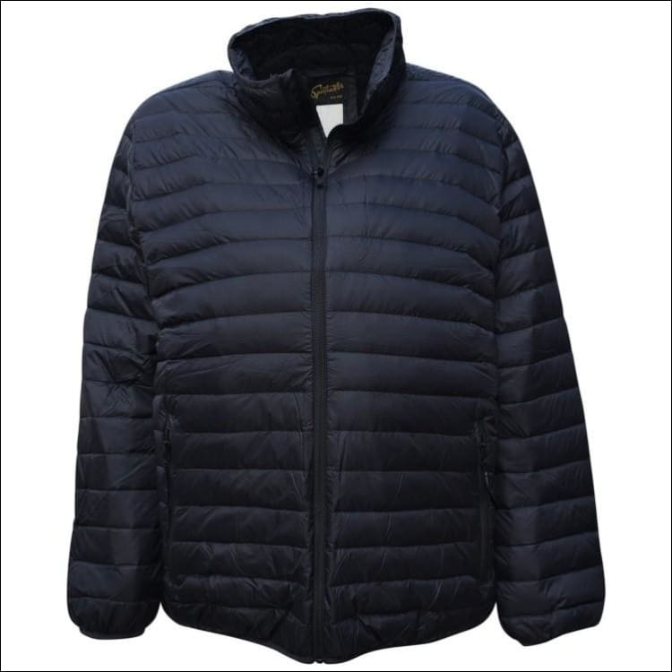 Sportcaster Mens Packable Down Jacket Big Sizes 2XL-7XL - 3XL / Black - Mens