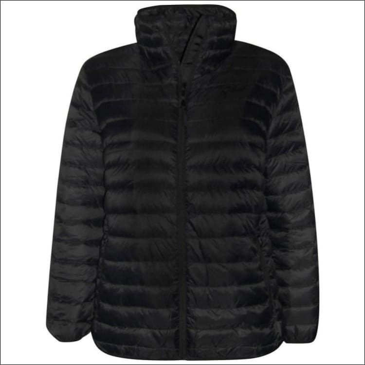 Sportcaster Womens Plus Size Packable Down Jacket 1X-6X - 1X / Black - Plus Size