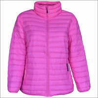 Sportcaster Womens Plus Size Packable Down Jacket 1X-6X - 1X / Bubble Gum Pink - Plus Size