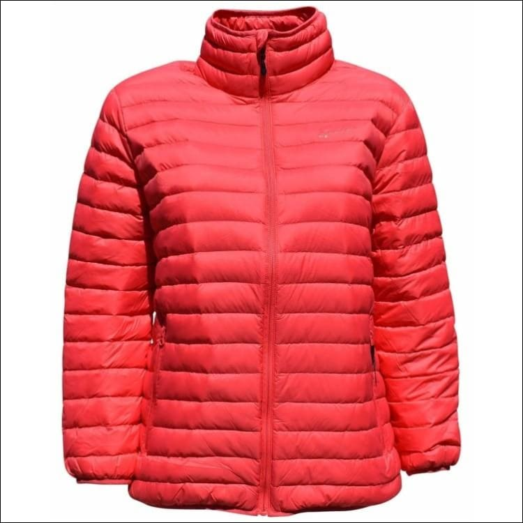 Sportcaster Womens Plus Size Packable Down Jacket 1X-6X - 1X / Juicy Melon - Plus Size