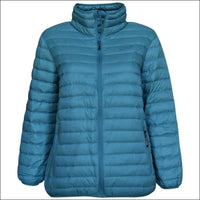 Sportcaster Womens Plus Size Packable Down Jacket 1X-6X - 1X / Down Lagoon - Plus Size