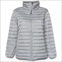 Sportcaster Womens Plus Size Packable Down Jacket 1X-6X - 1X / Metal - Plus Size