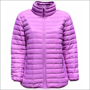 Sportcaster Womens Plus Size Packable Down Jacket 1X-6X - 1X / Violet - Plus Size