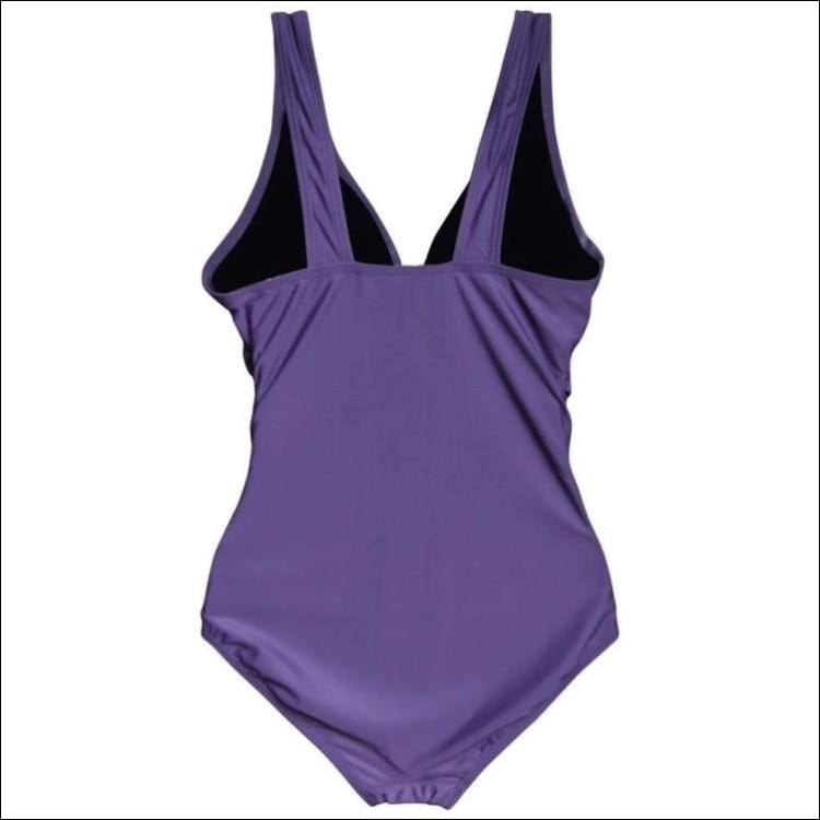 Womens Plus Size One Piece Wrap Swimsuit Purple 16W - Womens