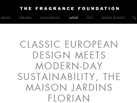 Fragrance Foundation article about Jardins Florian