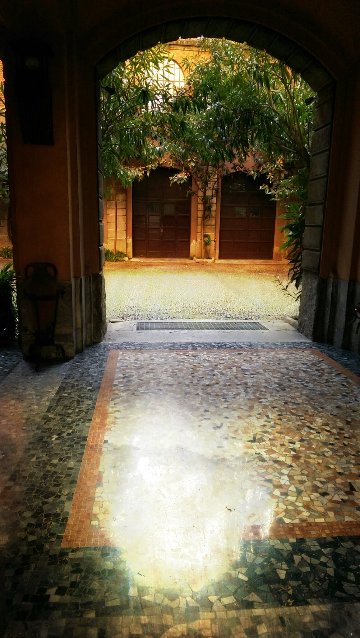"Milano Northern districts, indoor garden ""cortile"""