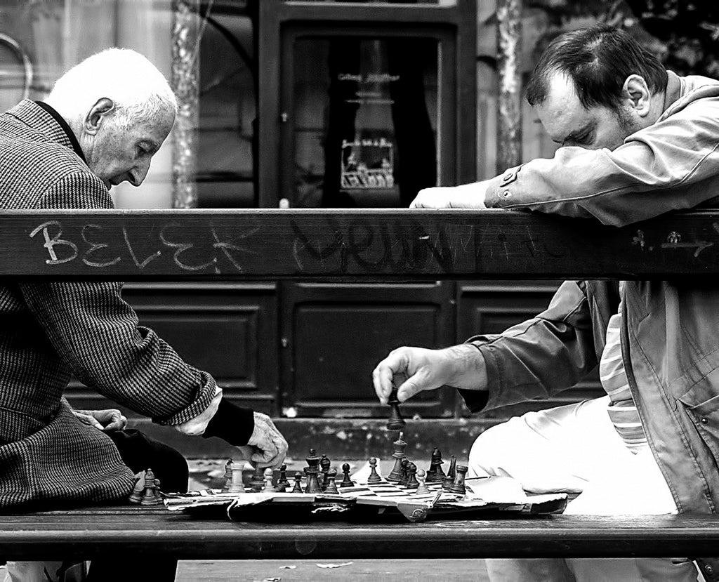 Midlife in Paris Chess players