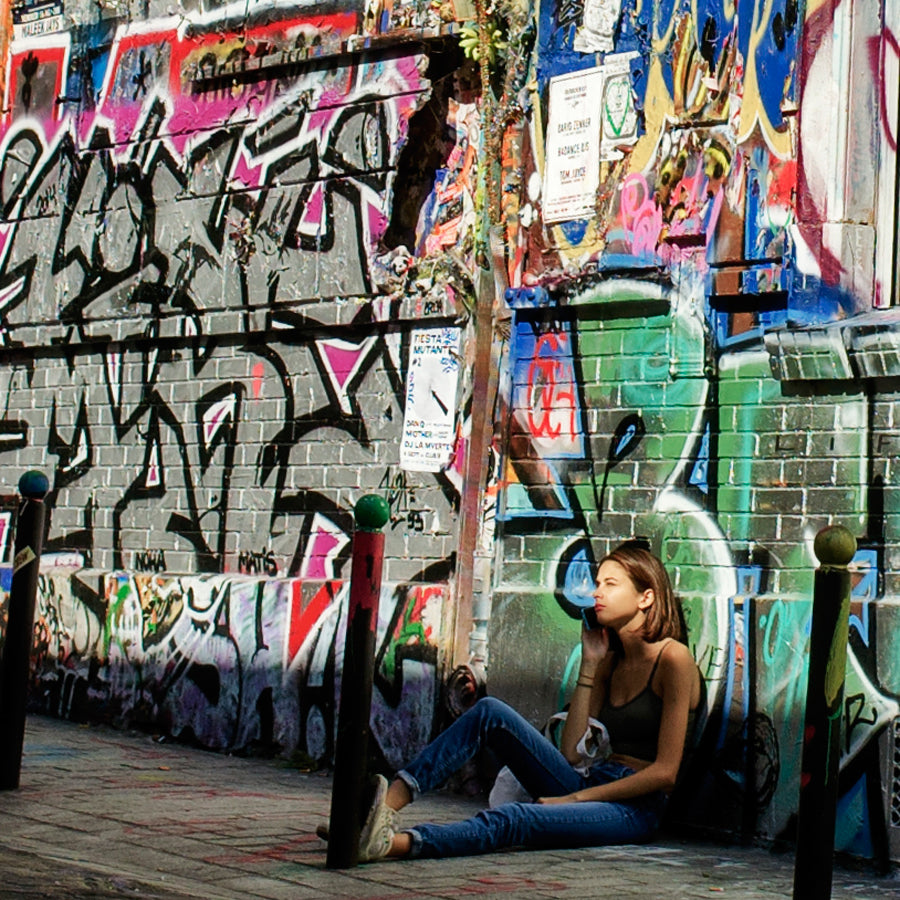 Midlife in Paris Graffiti Girl