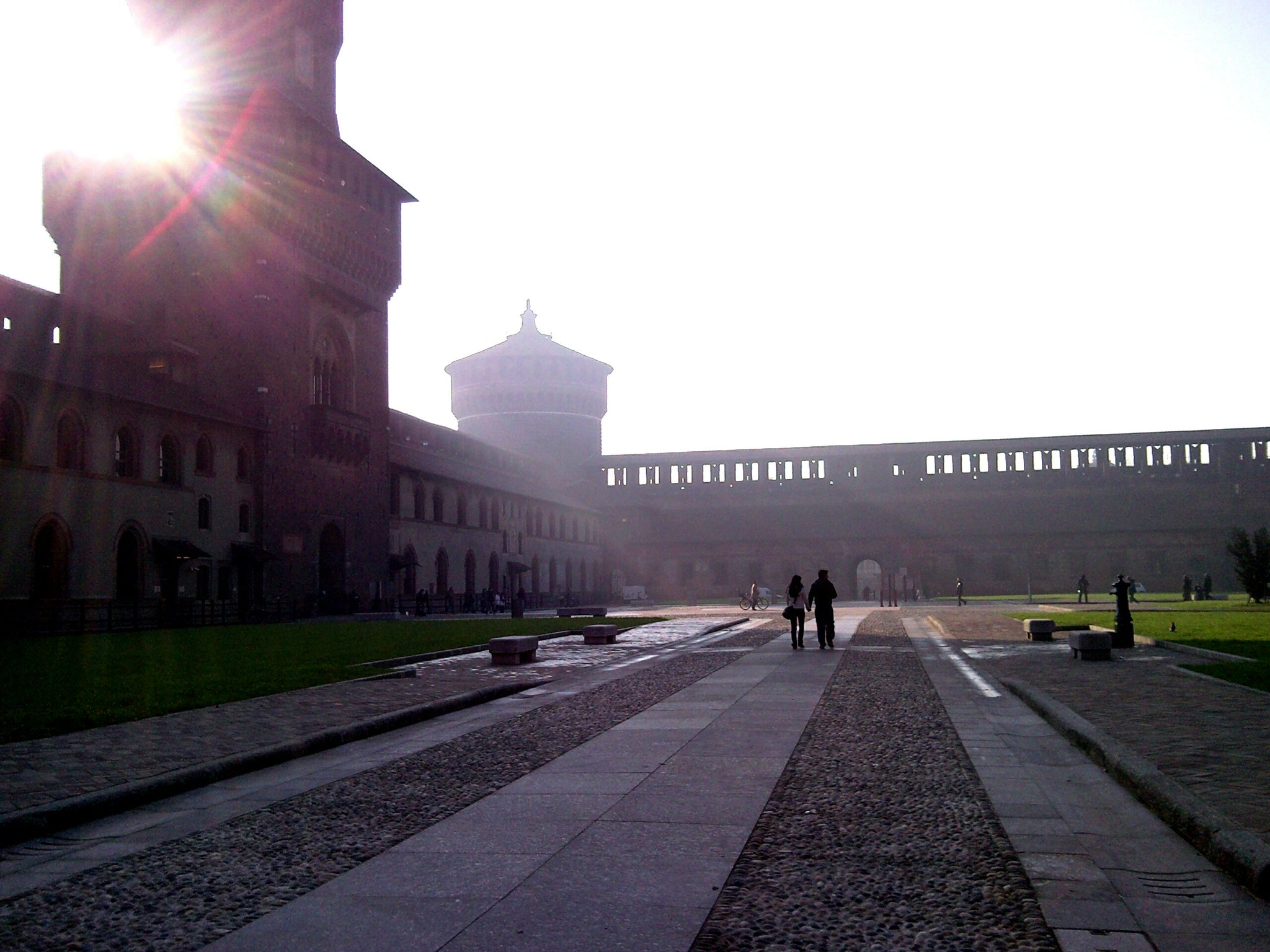 Inside the Castello Forzesco in Milan