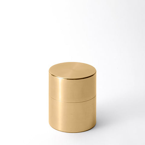 Kaikado Tea Caddy Brass 200g wide