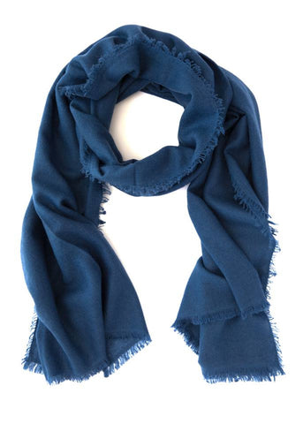 Kailash Cashmere Scarf (Night Blue)