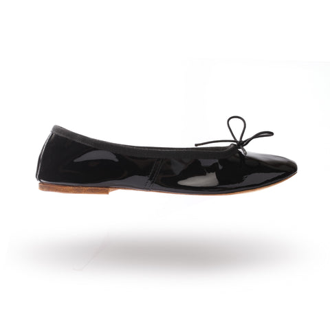 Porselli ballet flats (Black Patent leather)