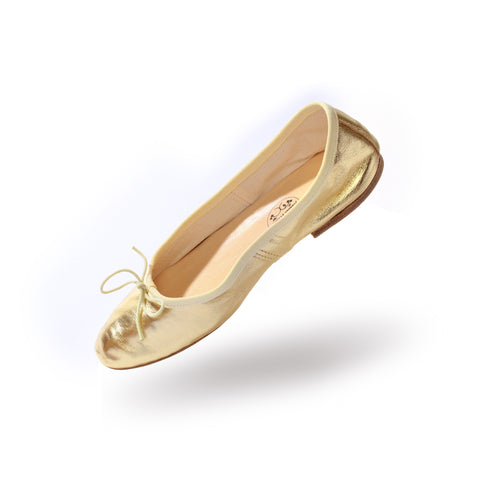 Porselli ballet flats (Metallic Gold)