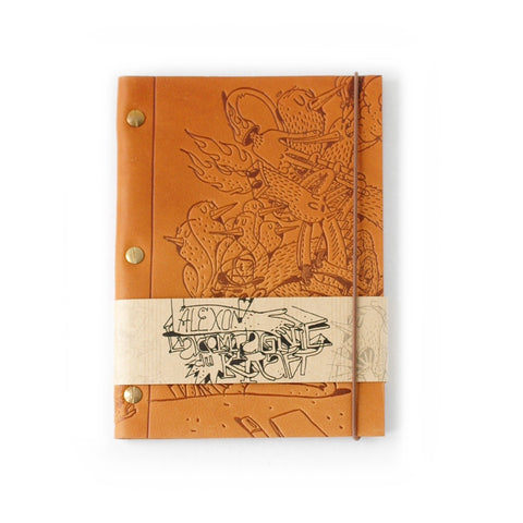Notebook in Gold Leather (Medium size A5) Ltd. Edition