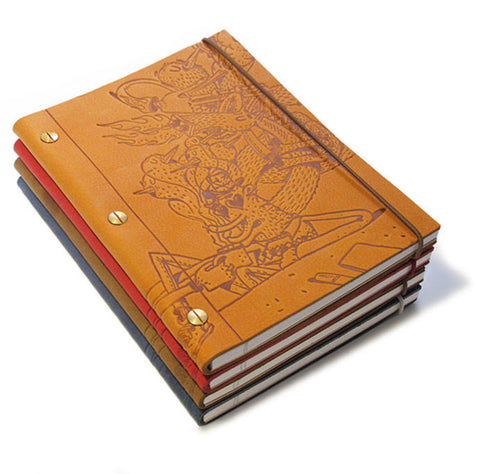 Notebook in 'Cuba Libre' Leather (Medium size A5) Ltd. Edition