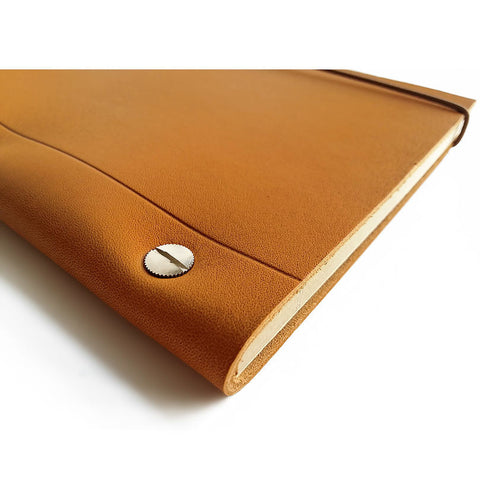 Notebook in Gold Leather (Large size A4)