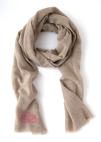 Fibre Tibet Cashmere Scarf (Natural Colour)