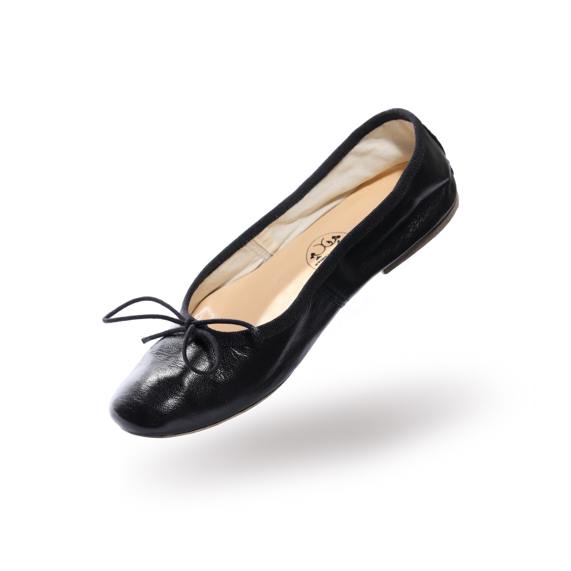porselli ballet flats black leather jardins florian