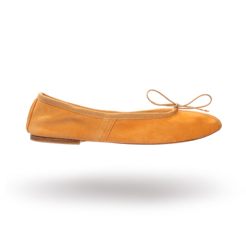 LAST PAIR! Porselli ballet flats (Last size 41 in Apricot/Tobacco Suede)