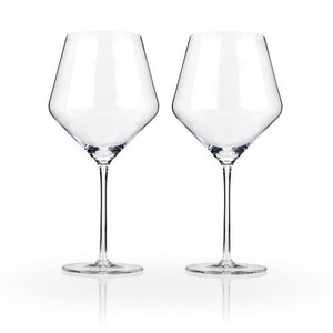 Crystal Burgundy Glasses (Set of 2)