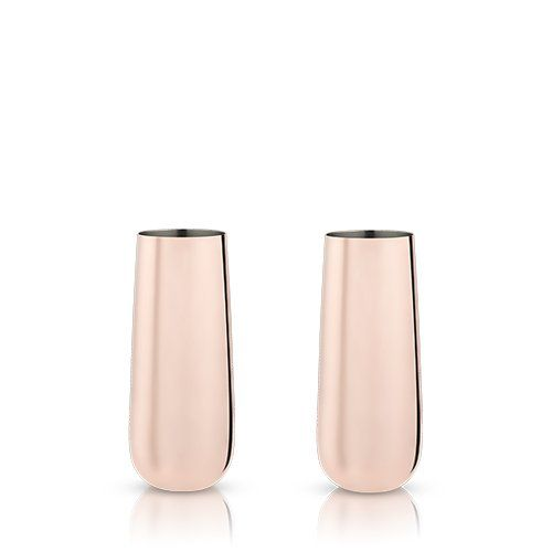Stemless Copper Champagne Flutes (Set of 2)