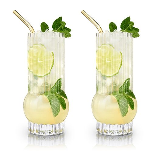 Deco Highball Glasses (Set of 2)