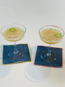 Denim Chambray Cocktail Coasters