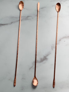 Forged Copper Cocktail Spoon