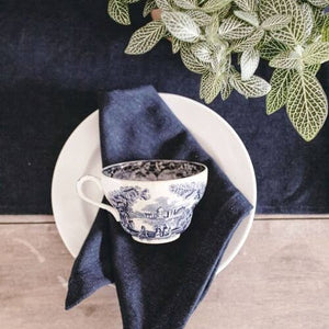 Heirloomed Denim Dinner Napkins - Set of 4