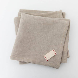 Heirloomed Linen Dinner Napkins - Set of 4
