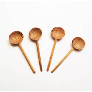 Hand Carved Condiment Spoons (Set of 4)