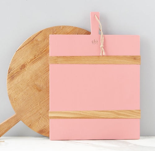 Pink Rectangle Charcuterie Board