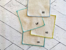"Load image into Gallery viewer, ""Not So Proper"" Monogrammed Cocktail Napkin Set"