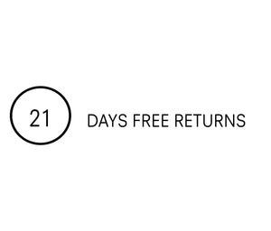 We offer free returns to UK Customers within 21 days
