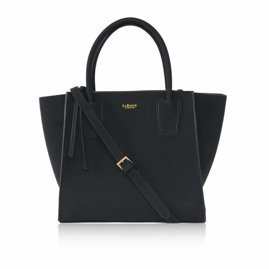 Demi Black Vegan Winged Tote Bag