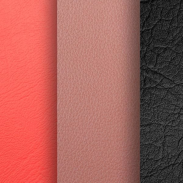 we use only two kinds of faux leather, both of which are in sync with the larger environment.