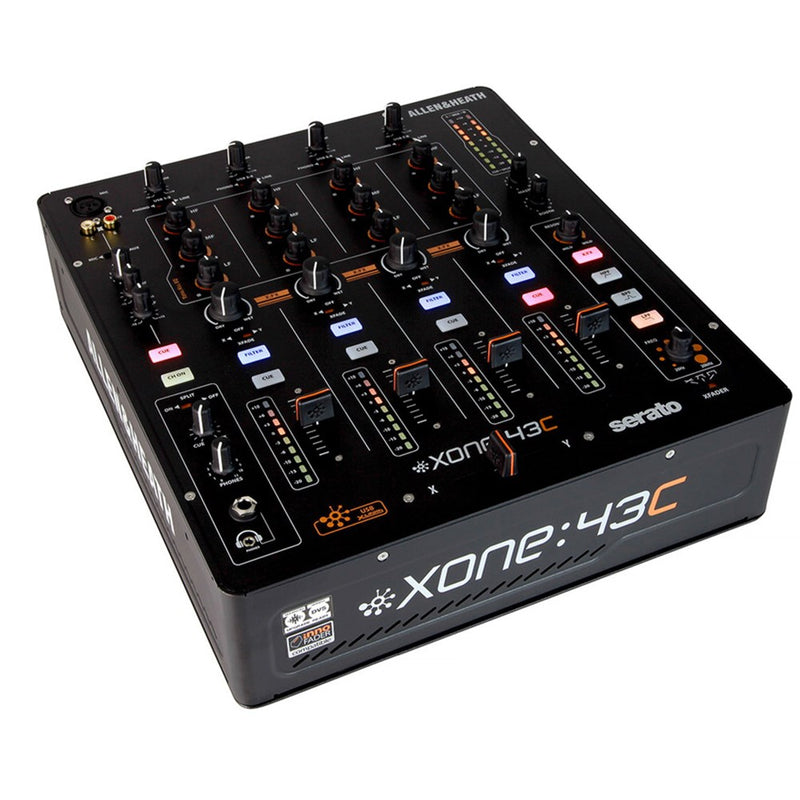 Allen & Heath XONE:43C 4+1 Channel DJ Mixer with Soundcard (Optional Serato CLUB KIT Upgrade)
